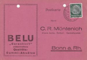 Germany 1936 Blankenheim CDS  Postcard used VGC