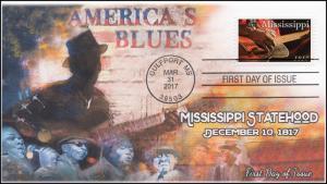 17-085, 2017, Mississippi Statehood, 200th Anniv, Gulfport MS, FDC, BW Postmark