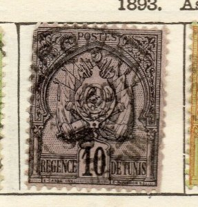Tunis 1893 Early Issue Fine Used 10c. NW-114586