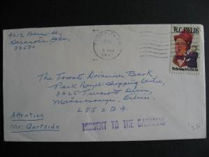 Missent to the Bahamas handstamp on USA to Canada cover, check it out!