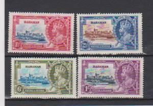 BAHAMAS 1935 ISSUE SILVER JUBILEE MLH #186-189 LOT#443