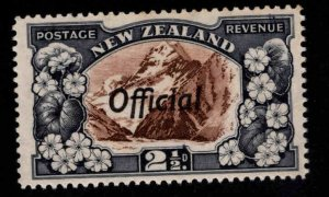 New Zealand Scott o65 MNH** Official overprint on Mt. Cook and Lilies stamp