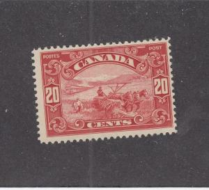CANADA (MK1098) # 157  FVF-MLH  20cts  HARVESTING WHEAT /CARMINE CAT VALUE $75