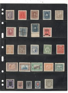 UKRAINE COLLECTION ON STOCK SHEET, MINT/USED