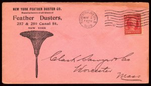 3 May 1909 Illustrated Advert Cover New York Feather Duster Co Showing Duster