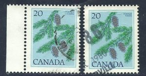 Can #718   (2)   used VF  1977  PD