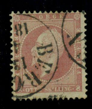 Norway #5 Used F-VF Cat$55