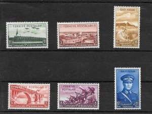 TURKEY/1938 - 15th YEAR OF THE REPUBLIC COMPLETE SET, MNH