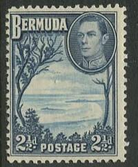 Bermuda - Scott 120 - KGVI Definitive -1938 - MLH  - Single 2.1/2p Stamp