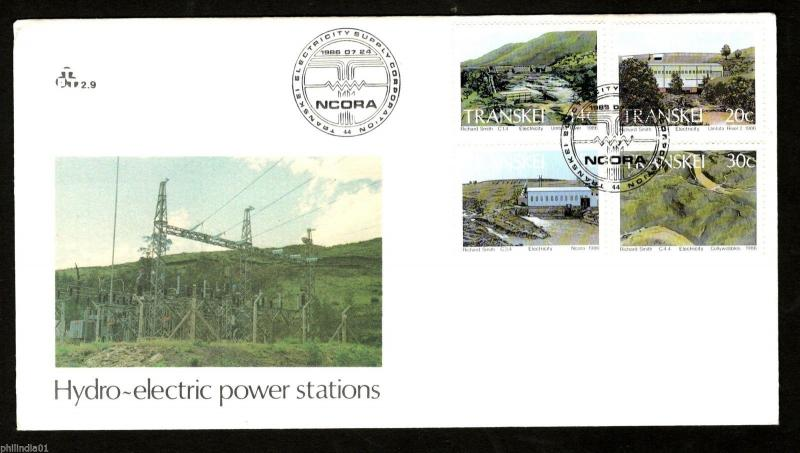 Transkei 1986 Hydroelectric Power Stations River Wind Energy Sc 175-8 FDC #16214