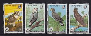 Gambia Scott # 381 - 384 set VF never hinged nice color cv $ 130 ! see pic !