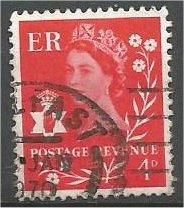 NORTHERN IRELAND, GB, 1968 used 4p, Scott 9