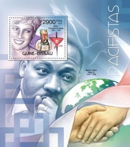 GUINE BISSAU 2012 SHEET PACIFISTS MARTIN LUTHER KING PRINCESS DIANA gb12408b