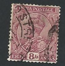 India Scott #118 8a King George V (1926) used