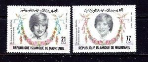 Mauritania 515-16 MNH 1982 Princess Diana
