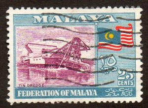 Malaya, Federation of  Scott  82  Used