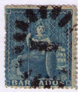 BARBADOS - Britannia 1855-59 Used No Watermark Perf 14
