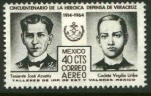 MEXICO C284, 50th Anniversary Defense of Veracruz. MINT, NH. F-VF.