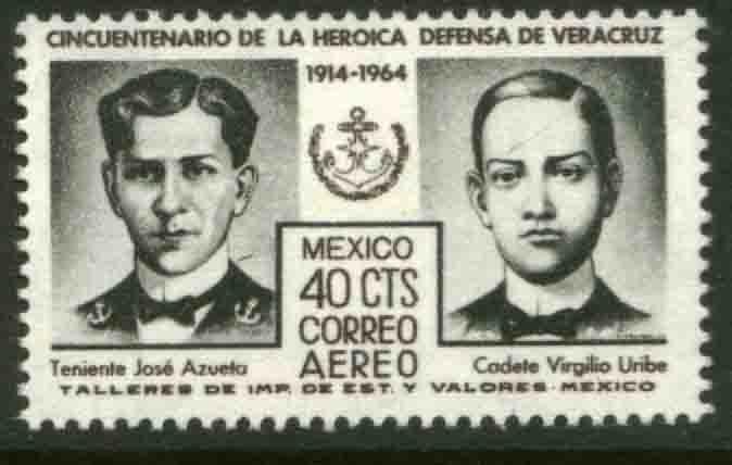 MEXICO C284, 50th Anniversary Defense of Veracruz. MINT, NH. F-VF.