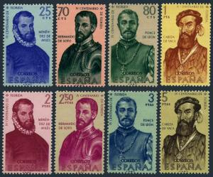 Spain 945-952,MNH.Michel 1193-1200. Florida's discovery & colonization,1960.