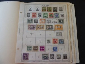 Salvador 1923-1963 Stamp Collection on Scott Album Pages