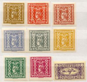(I.B) Austria Postal : Newspaper (Zeitung) Stamp Collection