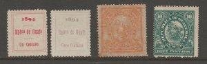 MX-20 Cinderella revenue stamp Guatemala  c Shipping note orange 20c=mnh gum