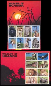 Uganda 1996 Scott #1394-1395 Mint Never Hinged