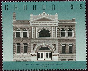 Canada - 1996 $5 Victoria Public Library VF-NH #1378