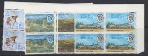 Basutoland, Scott 97-100 (SG 94-97), MNH blocks of four