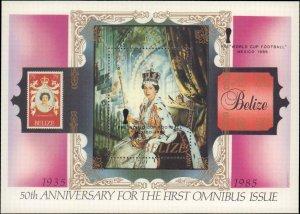 1985 Belize #797, Complete Set, Souvenir Sheet Only, Never Hinged