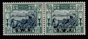 SOUTH WEST AFRICA GVI SG105, ½d + ½d blue-green, M MINT. Cat £12.