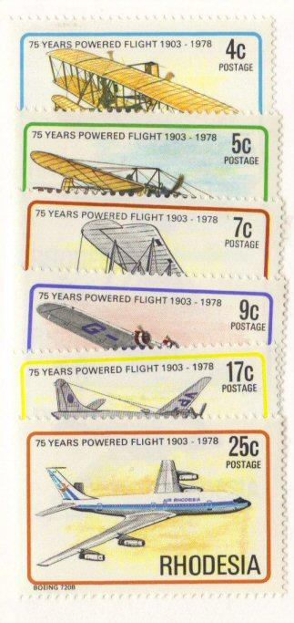 Rhodesia #408-13 MNH complete planes