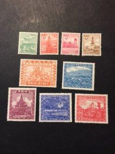 Nepal sc 51-59 MNH