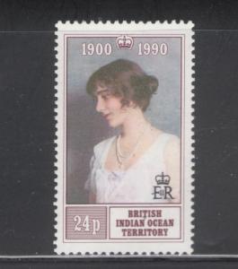 British Indian Ocean Territory 1990 Queen Mother Birthday 24p Scott # 106 MNH