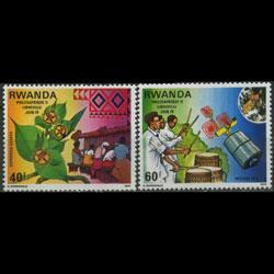 RWANDA 1979 - Scott# 913-4 Philex Set of 2 LH