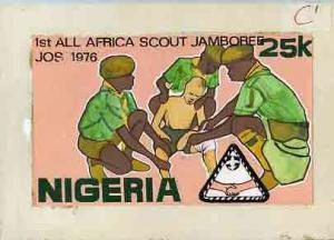 Nigeria 1977 First All Africa Scout Jamboree - original h...