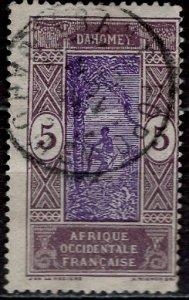 Dahomey 1922: Sc. # 46; O/Used Single Stamp