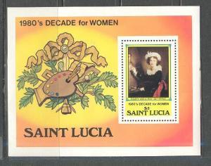 SAINT LUCIA Sc# 577 MNH FVF Souvenir Sheet Decade for Women