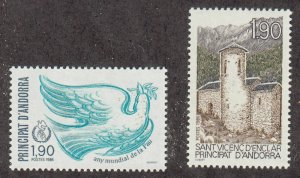 Andorra-French - 1986 - SC 349-50 - LH