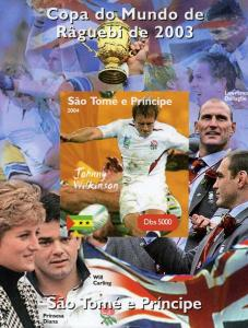 Sao Tome & Principe 2004 Rugby J.Wilkinson Deluxe s/s mnh.vf