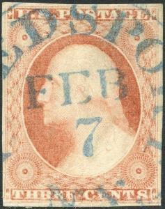 #11 VF USED WITH ULTRAMARINE FEB. 7 DATE CANCEL BP1935