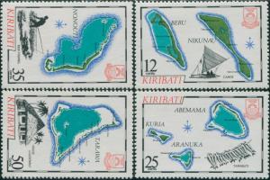 Kiribati 1983 SG201-204 Islands set MNH