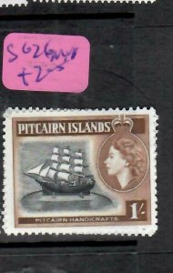 PITCAIRN ISLANDS  (PP2106B)  QEII  1/-    BOAT  SG 26     MNH