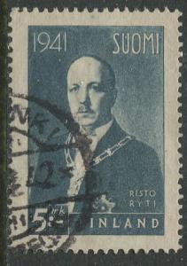 Finland - Scott 238 - Pres. Risto Ryti -1941- Used - Single 5m Stamp