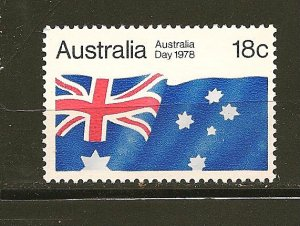 Australia 671 Flag Mint Hinged