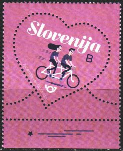 Slovenia. 2020. 1402. Valentine's Day, heart. MNH.