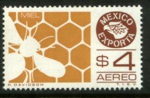 MEXICO Exporta C495, $4P Honey. Unwmk Fosfo Paper 4. MINT, NH. VF.