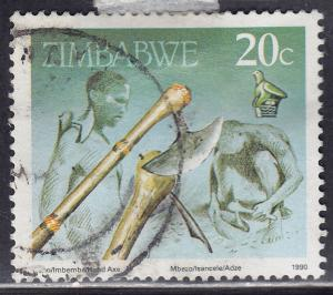 Zimbabwe 621 USED 1990 Cultural Artifacts