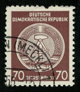 1957 -1960, Coat of Arms, 70 Dienstmarke, DDR, CV $ 116 (3891-Т)